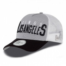New Era NHL LOS ANGELES KINGS Truckstack 9FORTY A-Frame Trucker Cap
