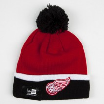 New Era NHL DETROIT RED WINGS TM Cuff Bobble (Wintermütze) Knit