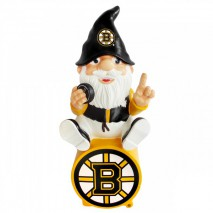Forever Collectibles NHL BOSTON BRUINS Gnome Sitting on a Logo