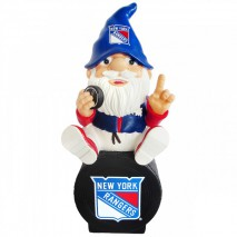 Forever Collectibles NHL NEW YORK RANGERS Gnome Sitting on a Logo