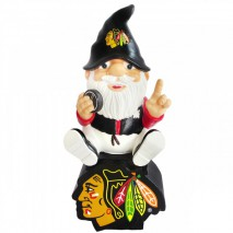 Forever Collectibles NHL CHICAGO BLACKHAWKS Gnome Sitting on a Logo