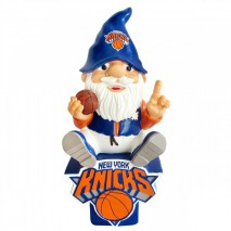 Forever Collectibles NBA NEW YORK KNICKS Gnome Sitting on a Logo