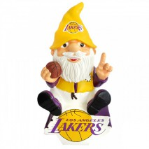 Forever Collectibles NBA LOS ANGELES LAKERS Gnome Sitting on a Logo