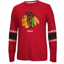 Reebok CCM NHL CHICAGO BLACKHAWKS Logo Crew Long Sleeve Sweatshirt