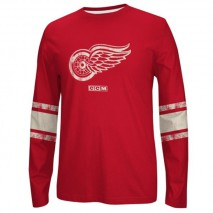 Reebok CCM NHL DETROIT RED WINGS Logo Crew Long Sleeve Sweatshirt
