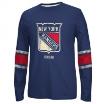 Reebok CCM NHL NEW YORK RANGERS Logo Crew Long Sleeve Sweatshirt
