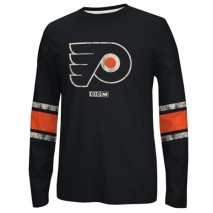 Reebok CCM NHL PHILADELPHIA FLYERS Logo Crew Long Sleeve Sweatshirt