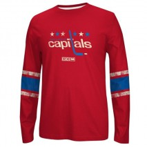 Reebok CCM NHL WASHINGTON CAPITALS Logo Crew Long Sleeve Sweatshirt