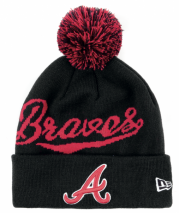New Era MLB ATLANTA BRAVES Bobble Script (Wintermütze) Knit