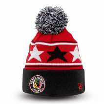 New Era NHL CHICAGO BLACKHAWKS Pommy Star (Wintermütze) Knit