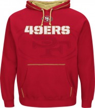 Majestic NFL SAN FRANCISCO 49ers Seam Pass Hoodie