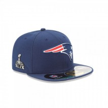 New Era NFL NEW ENGLAND PATRIOTS Super Bowl 2015 On Field 59FIFTY Game Cap
